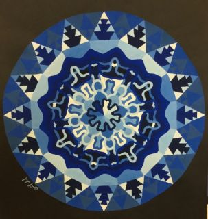 Monochromatic Radial Design Paintings 2016-17 Art 1 (Palacios)
