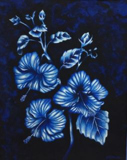 Monochromatic Flower Paintings 2016-17 Art 1 (Palacios)