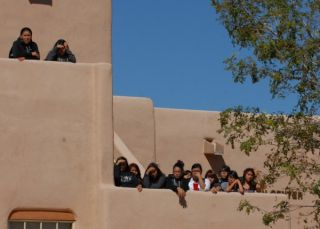Students watching dance