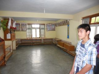 TCV student shows living room