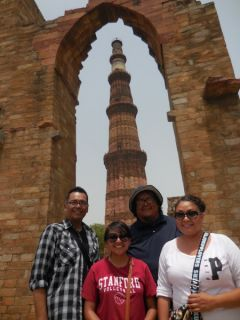In front of the Qutub Minar